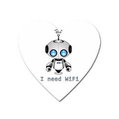 Cute Robot Heart Magnet