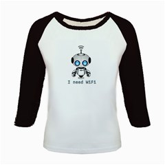Cute Robot Kids Baseball Jerseys