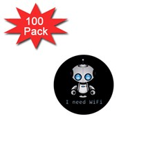 Cute Robot 1  Mini Buttons (100 Pack)