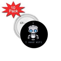 Cute Robot 1 75  Buttons (10 Pack)