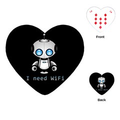Cute Robot Playing Cards (heart)