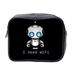 Cute Robot Mini Toiletries Bag 2 Side