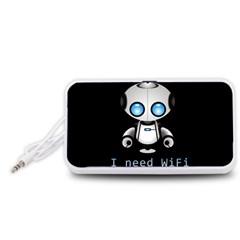 Cute Robot Portable Speaker (white)
