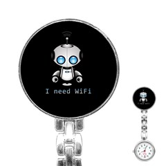 Cute Robot Stainless Steel Nurses Watch