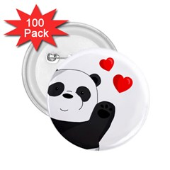Cute Panda 2 25  Buttons (100 Pack)