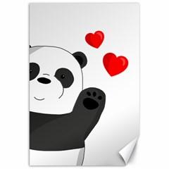 Cute Panda Canvas 20  X 30