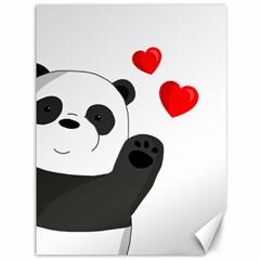 Cute Panda Canvas 36  X 48