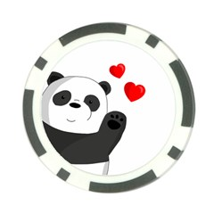 Cute Panda Poker Chip Card Guard