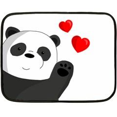 Cute Panda Double Sided Fleece Blanket (mini)