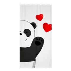 Cute Panda Shower Curtain 36  X 72  (stall)