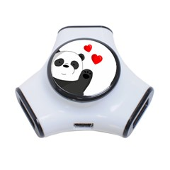 Cute Panda 3 Port Usb Hub