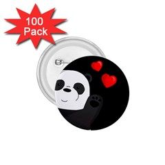 Cute Panda 1 75  Buttons (100 Pack)