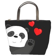 Cute Panda Bucket Bags