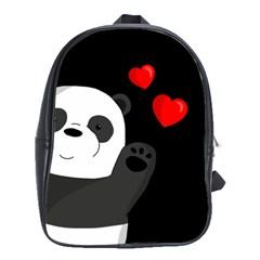 Cute Panda School Bag (large)