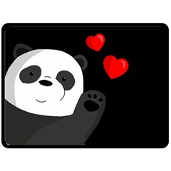 Cute Panda Fleece Blanket (large)