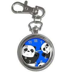 Cute Pandas Key Chain Watches