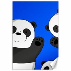 Cute Pandas Canvas 24  X 36