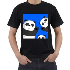 Cute Pandas Men s T Shirt (black)