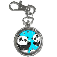 Cute Pandas Key Chain Watches