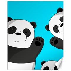 Cute Pandas Canvas 16  X 20