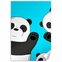 Cute Pandas Canvas 24  X 36