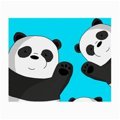 Cute Pandas Small Glasses Cloth (2 Side)