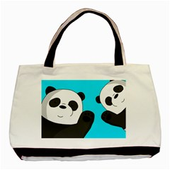 Cute Pandas Basic Tote Bag (two Sides)