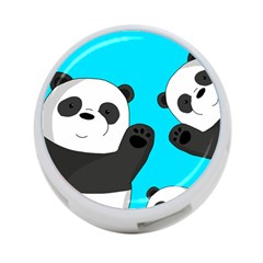 Cute Pandas 4 Port Usb Hub (one Side)