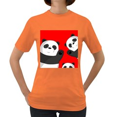 Cute Pandas Women s Dark T Shirt