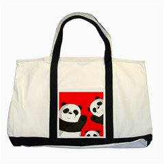 Cute Pandas Two Tone Tote Bag