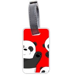 Cute Pandas Luggage Tags (one Side)