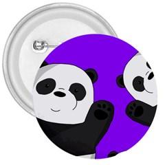 Cute Pandas 3  Buttons