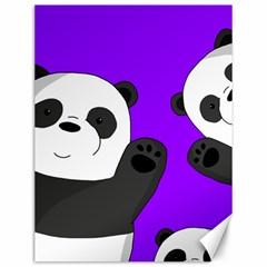 Cute Pandas Canvas 12  X 16