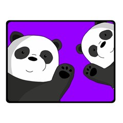 Cute Pandas Double Sided Fleece Blanket (small)