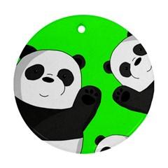 Cute Pandas Ornament (round)