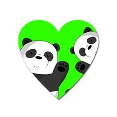 Cute Pandas Heart Magnet