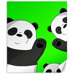 Cute Pandas Canvas 8  X 10