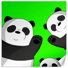 Cute Pandas Canvas 20  X 20