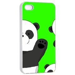Cute Pandas Apple Iphone 4/4s Seamless Case (white)