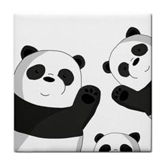 Cute Pandas Tile Coasters