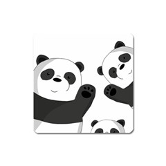 Cute Pandas Square Magnet