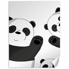 Cute Pandas Canvas 12  X 16