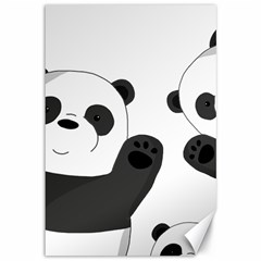 Cute Pandas Canvas 12  X 18