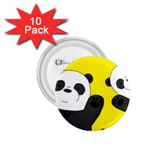 Cute Pandas 1 75  Buttons (10 Pack)