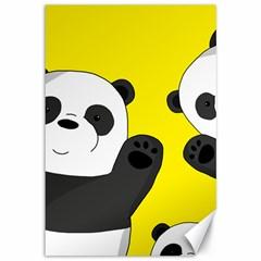 Cute Pandas Canvas 12  X 18
