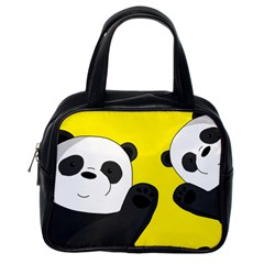 Cute Pandas Classic Handbags (one Side)