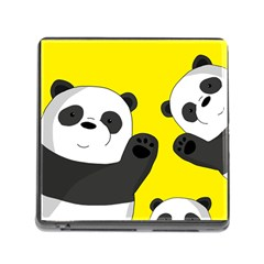 Cute Pandas Memory Card Reader (square)