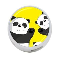 Cute Pandas 4 Port Usb Hub (two Sides)