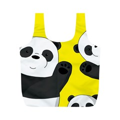 Cute Pandas Full Print Recycle Bags (m)