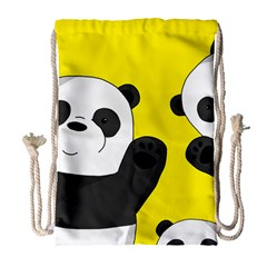 Cute Pandas Drawstring Bag (large)
